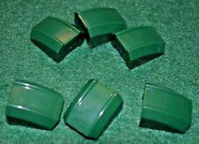 (6) Dark Green (Hunter Green) 2x2 Grooved Cover Bricks ~  Lego  ~ NEW ~