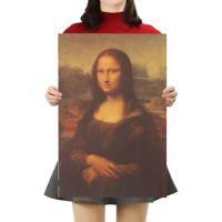 Mona Lisa Leonardo Da Vinci Famous Art Paper Poster Retro Home Bar Wall Decor