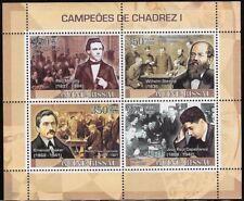 Guinea-Bissau 2008 Chess Champions I: Morphy, Steinitz, Lasker, Capablanca -pw68