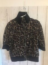 Kelly by 26 International girls Animal print zip up short sleeve jacket size L