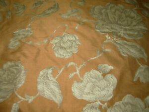 2 YDS 100% SILK MODERN FLORAL PRINT DRAPERY UPHOLSTERY FABRIC FOR LESS