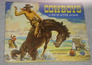 1951 CHILDREN'S POP-UP BOOK COWBOYS IN POP-UP ACTION PICTURES E. JOSEPH DREANY