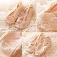 Dance Cotton Ballet No Show Liner Hollow Antiskid Invisible Lace Socks Low Cut