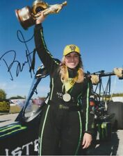 2017 Brittany Force signed Dallas Texas Top Fuel Win NHRA 8x10 Photo