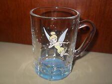 Disney World Tinkerbell Clear Glass Stein Shaped Cup Mug
