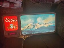 Vintage rare coors original neon lighted sign beer bar mancave banquet scrolling