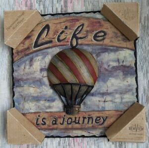 New View 8 Inch Square Life Is A Journey Dimensional Image Wall Plaque