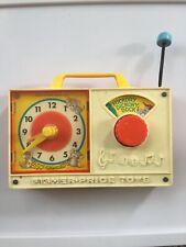 Vintage JAPAN Fisher Price 1971  wind-up clock Camera Toy Kids WORKS