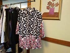 Black White and Red Sequined Lab Coat Size XL