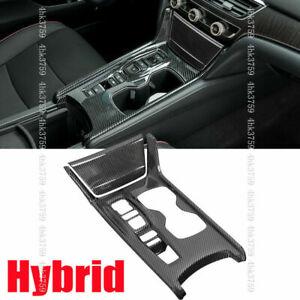 For Honda Accord 2.0t 2018-21 Carbon fiber ABS Gear Shift Box Panel Molding Trim