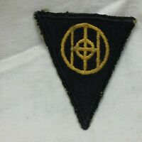 Vtg Military Patch 83rd Infantry Division Emblem Green Back Yellow Thread