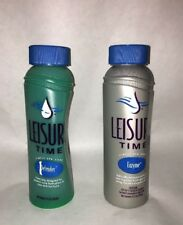 Leisure Time Defender & Enzyme For Spas , 8 Ounces Each, Sealed.