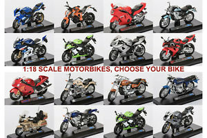 Motorbike 1:18 Scale Die-cast Motorcycle Model Bike Toy, CHOOSE YOUR BIKE.