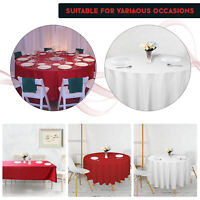 Red White Table Cloth Table Decor Soft Cover Round Rectangle Birthday Party