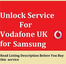 Unlock Code SERVICE FOR Samsung Galaxy Tab 2 3 4 S S2 A E TabPro For Vodafone UK