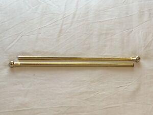 "Decorative Gold Curtain Rod w/ Finials 16.5-29.5"" Magnetic Extendable Expandable"