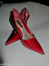 Nine West candy apple red patent heels stiletto platform pin-up rockabilly VLV 7
