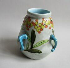 Boch Frères Keramis. Vase art nouveau en faïence décor de fleurs, XXe siècle