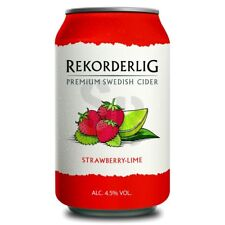 Rekorderlig Strawberry Lime Premium Cider 4,5% vol 24 x 33cl Tray