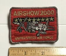 United State Air Force Airshow 2000 Aviation Souvenir Embroidered Badge Patch