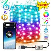 2020-Christmas Tree Decoration Light Custom LED String Lights App Remote Control