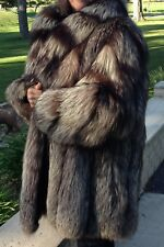 Women's Natural Silver Fox Jacket by Vogue Furs/George's Furs - Size L