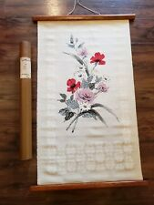 Vintage ROSEMENT COLOR #20 With Original Container Large Cloth Floral Wall Print