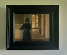 Master copy of Hammershoi framed oil painting, direct from J Smith.