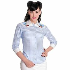 Women's Cotton Button Down Collar Semi Fitted Tops & Shirts