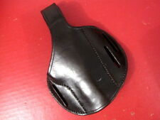 Black Leather Belt Holster for the Colt Government M1911 .45acp Pistol - Xln't
