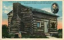 Postcard Abraham Lincoln Log Cabin Birthplace, La Rue County, Kentucky