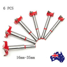 6PCS 16-35mm Wood Working Drill Bits Professional Forstner Hole Saw Cutter Set