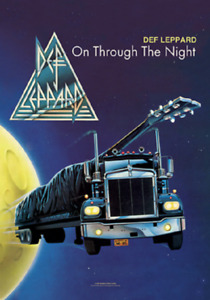 DEF LEPPARD THROUGH THE NIGHT   MUSIC FLAG WALL HANGER MADE ITALY LICENSED SILK