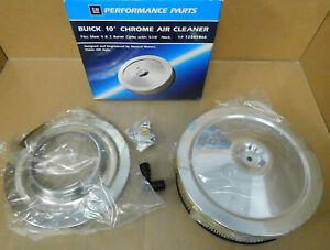"Gm Performance NOS 12341866 Buick Air Cleaner, 10"" Dia X 3"", 5 1/8"" Neck, W/Hdw"