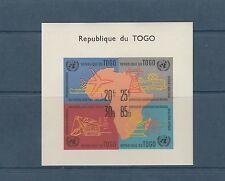 Togo bloc   carte de l' Afrique    de 1961    num:  6   **