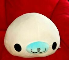 "Kawaii San-x Kuttari Mamegoma 16"" Plush White Seal Sakura Goma Round One"