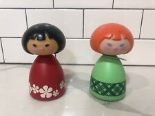 2 Avon Small World Dolls Shampoo and Bubble Bath