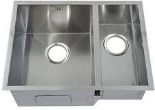 585 X 440 Mm Square Undermount 1.5 Bowl Handmade Satin Stainless Steel Kitchen