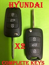 2 x i30 HYUNDAI remote control  key blank ready for programming + cutting