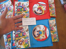Super Mario 3D World Nintendo Wii U COMPLETE EXCELLENT FIRST LABEL W/ MANUAL