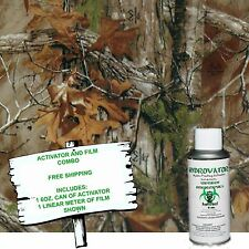 Hydrographic Film Water Transfer Hydro Dip 6oz Activator With Autum Camo Dip Kit
