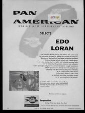 PAN AM SELECTS EDO LORAN FOR BOEING 707/DC-8 JETS & STRATOCRUISER 1957 AD