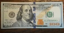 $ 100 AMERICAN DOLLAR BILL STAR NOTE 2009 A SERIAL NUMBER LL17578830☆ crispy new