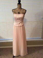 ALFRED ANGELO Light Pink Strapless Two Piece Gown