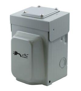 30A 250V NEMA L6-30P Industrial Locking Inlet Box by AC WORKS®