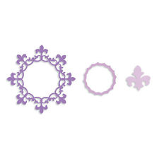 Sizzix Framelits Cutting Dies Set FRAME CIRCLE FLEUR DE LIS  EDGE 658904 REDUCED