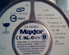 Hard Disk Drive IDE Maxtor Fireball 3 294923-001 E-H011-02-3056 20GB 40718160