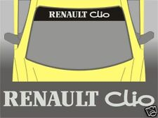 Renault Clio Full Sunstrip Sun Strip Sticker Windscreen