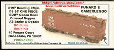 LMH Funaro F&C 8197 READING 1950s XMph 36' COCOA BEAN Covered Hopper RDG 1-PIECE