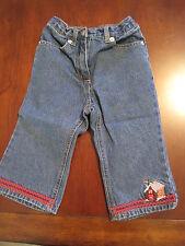 Gymboree Girl Xmas Gingerbread House Blue Jeans Denim Pants 18-24 months EUC